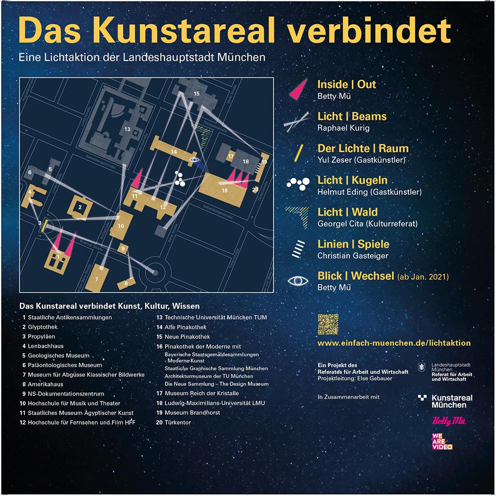 Lageplan Kunstareal verbindet